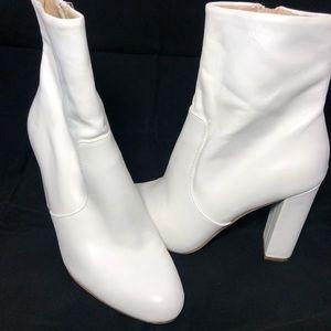 Steve Madden White Ankle Boots
